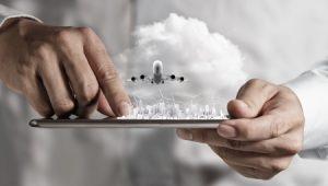 Vliegtuig volgen mobiel