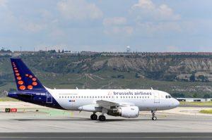 Vliegtuig volgen Brussel Airport