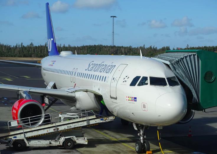 SAS Airlines vliegtuig volgen