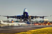 Vliegtuig volgen takeoff